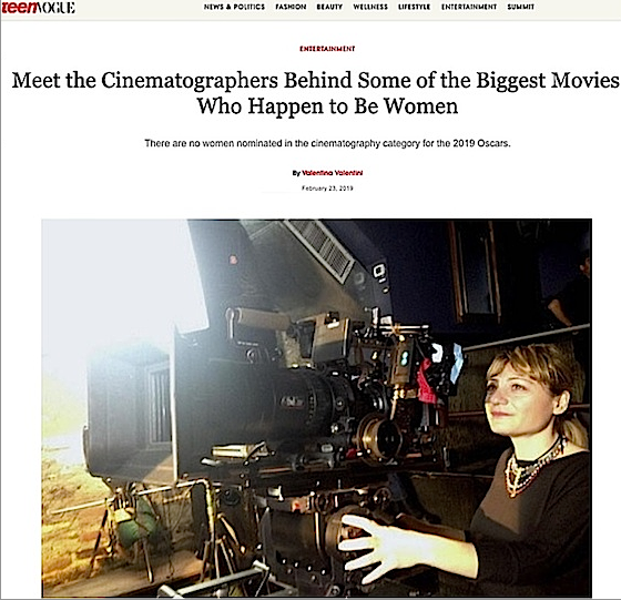 - Valentina Caniglia - Teen VogueMeet the Cinematographers Behind Some of the Biggest Movies — Who Happen to Be WomenClick to read the article