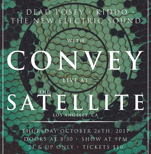 Holy heck, this is in like two and a half weeks! See you at the freaking @thesatellitela soon!! Come in clown makeup!* (disclaimer: there isn't a costume contest or anything, we're just really tryna encourage that as a look 🤷🏻‍♂️)