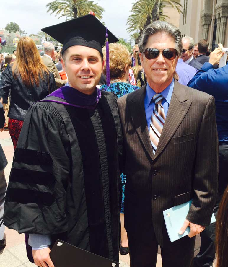 Derek Johnson, new graduate Southwestern Law School, May 17, 2015