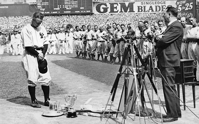Lou Gehrig's 1939 radio interview