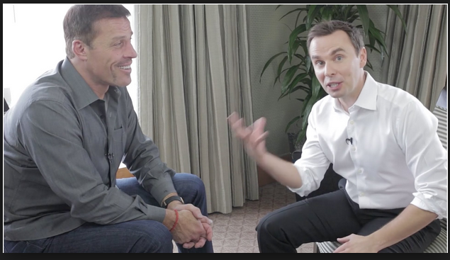 Motivation experts Tony Robbins and Brendon Burchard