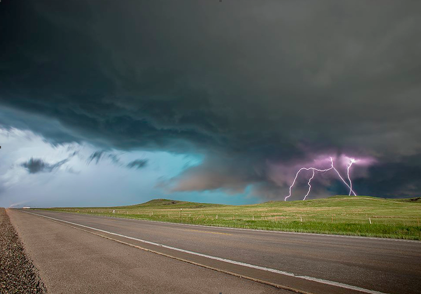 Image from National Weather Service: huge thunderstorm that produced tornadoes and hail near Rapid City, just 50 miles from our Sundance grounds  (http://Apocalyptic-Thunderstorm-Hits-Rapid-City-South-Dakota)