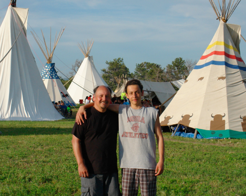 Al Brant & his son Rawa from the Tyendinaga Mohawk Reservation in Ontario, Canada.