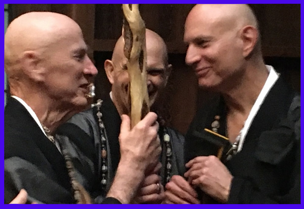 Convention of the Hairless (from L to R): Junpo Denis Kelly, Fugen Tom Pitner, and yours truly. (Photo: Holly Million)