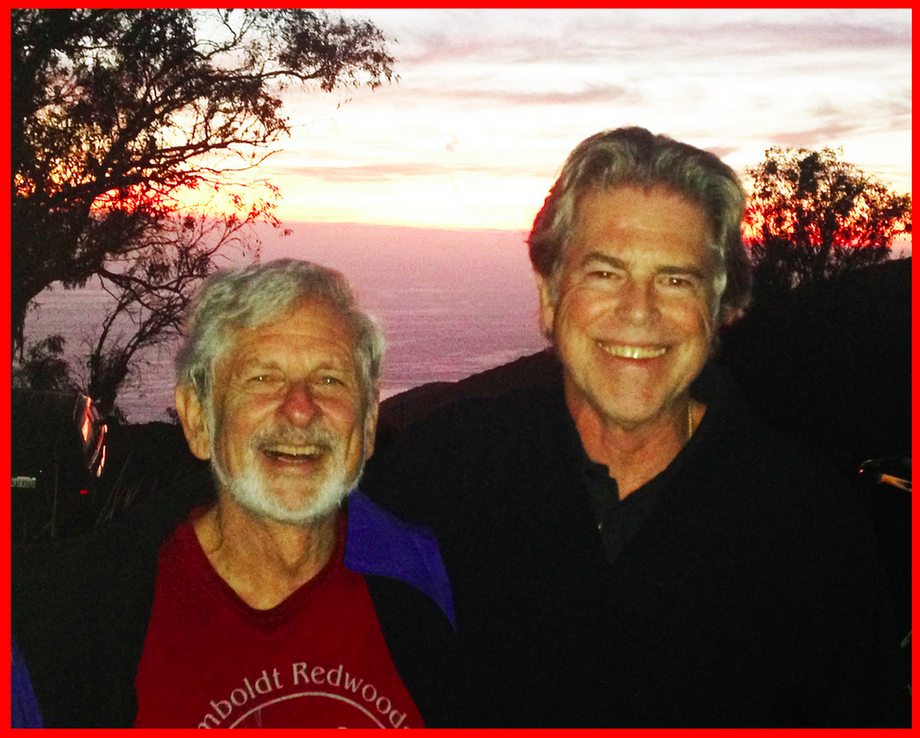 Dr. Jed Diamond and Dr. Stephen Johnson at MCLA's 30th Annual Sacred Path men's retreat last October on the mountain.