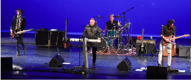 Synthpop band A Flock of Seagulls performs at the Sept. 11 concert in Malibu which memorialized and supported firefighters . . . (Photo by Suzy Demeter/22nd Century Media)