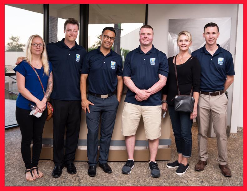 Members of UCLA's Operation Mend program . . . (Photo courtesy Alex Martinez)