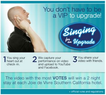 Hotel Markeitng Promo - Singing for an Upgrade
