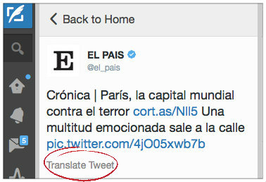 Bing Translator Twitter TweetDeck