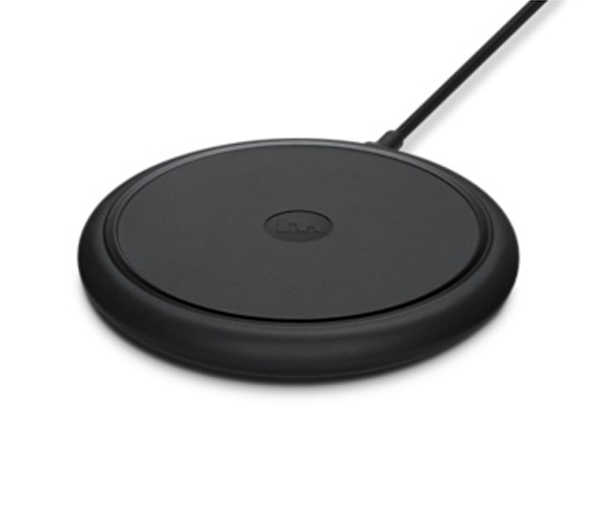 Mophie Wireless Charger - This best of breed wireless Qi charger is a great addition to any desk to allow persistent charging of your mobile devices.