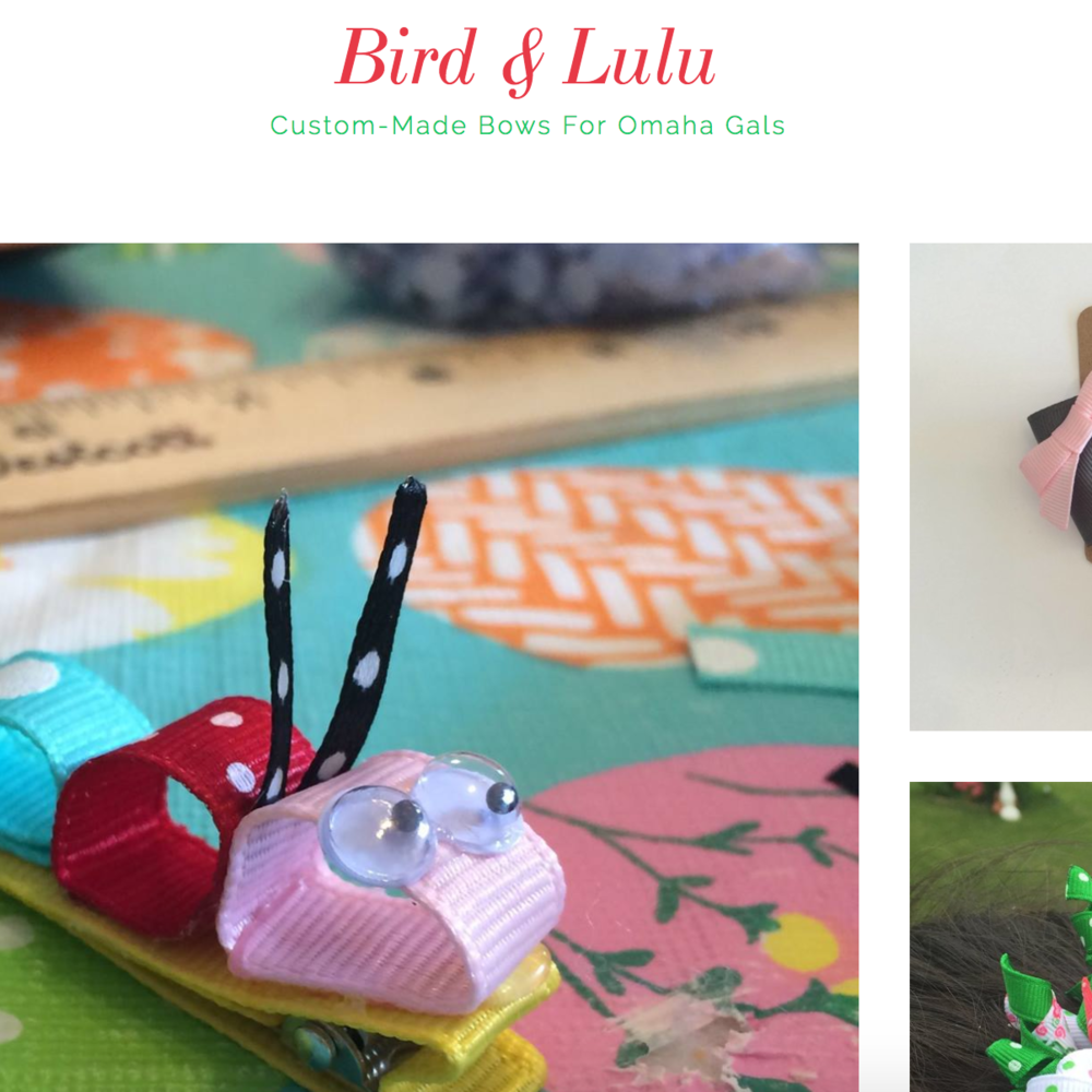 Bird & Lulu Custom Bows for Omaha Gals by Gina Turco Sturek