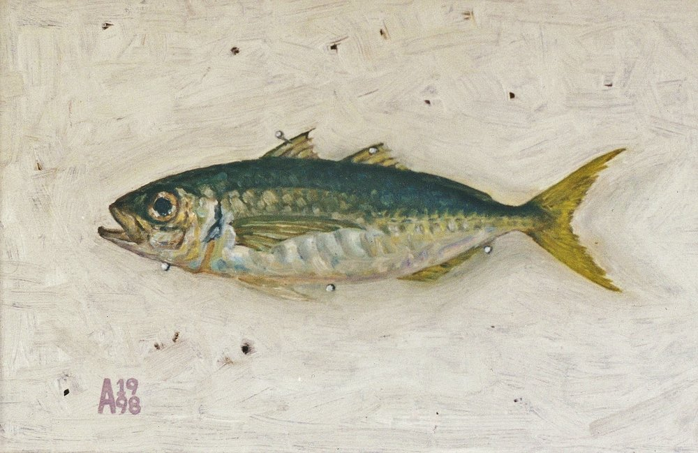 1998 Yellowtail oil on board.jpg