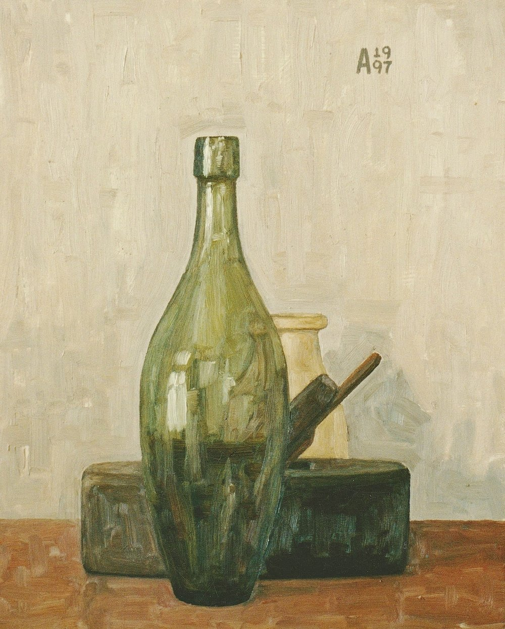 Still Life With Green bottle