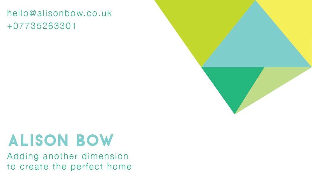 Geometric Business Card — Evening Design Co.