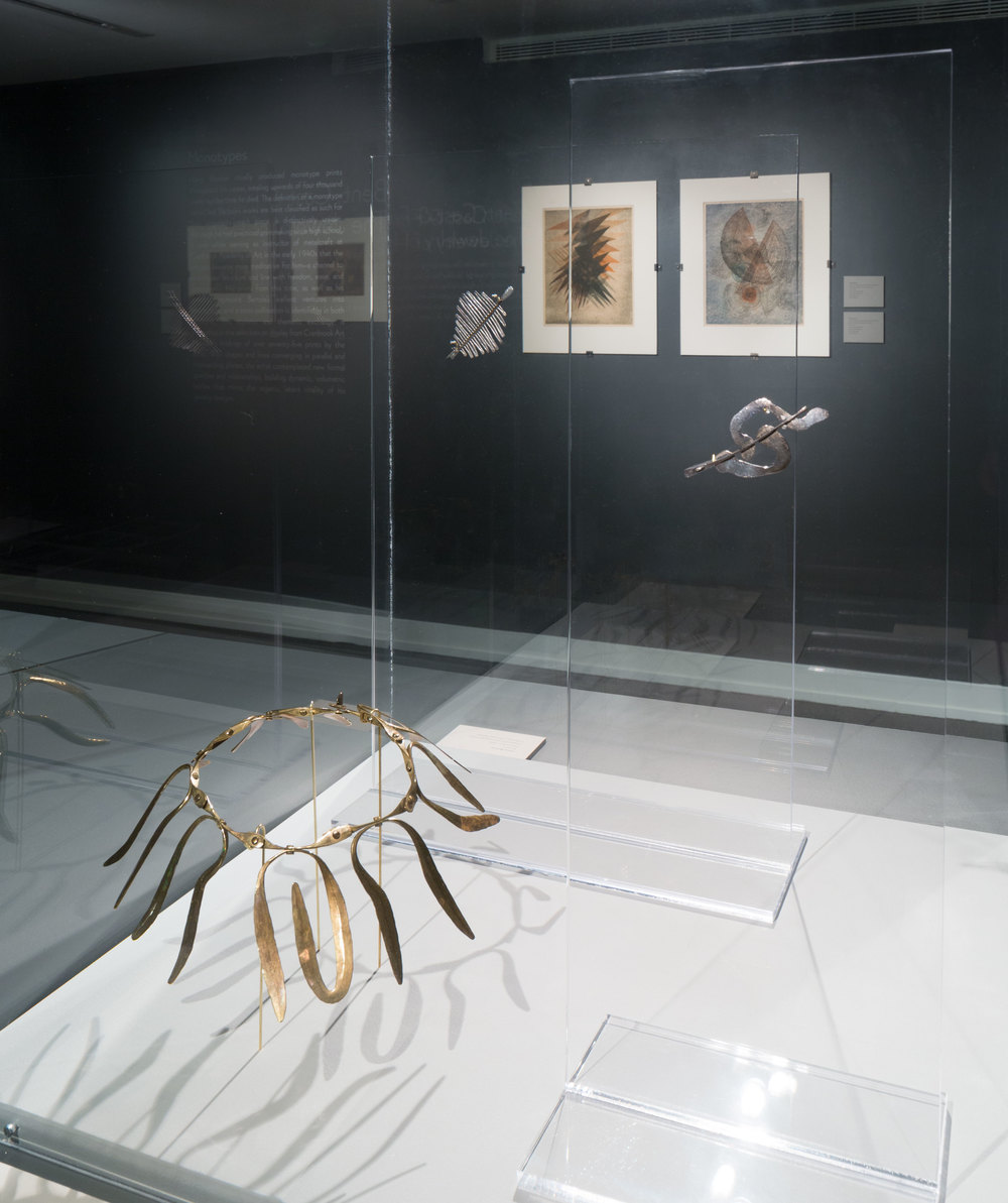 BENT, CAST & FORGED: THE JEWELRY OF HARRY BERTOIA   Cranbrook Art Museum March 2015 - November 2015 Photo: R.H. Hensleigh
