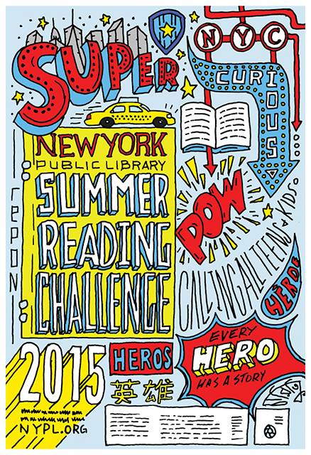 The New York Public Library 2015 Summer Reading Challenge flyer, courtesy of nypl.org