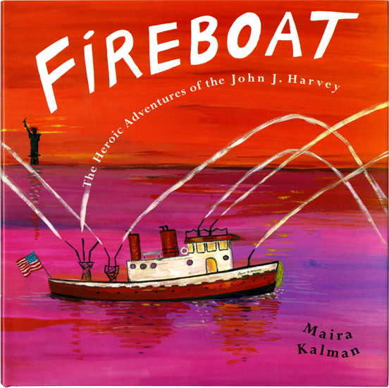 The Fireboat John J. Harvey, main character of Maira Kalman's book Fireboat, docks at Pier 86 in Manhattan.