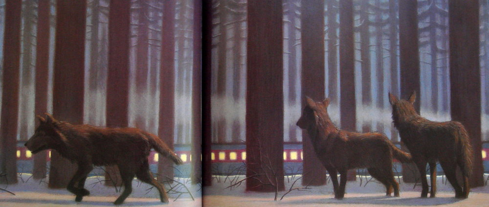The wolves add an element of danger into The Polar Express' dreamlike plot.