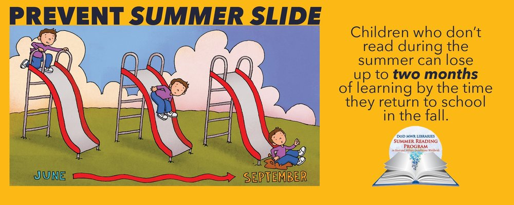 Your children can participate in a summer reading program even if your family is stationed overseas.