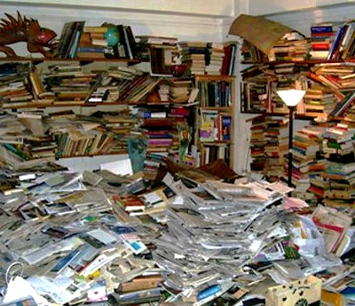 No joke, this is what our house would look like if we bought every book we read. We can't afford  not  to use the library.
