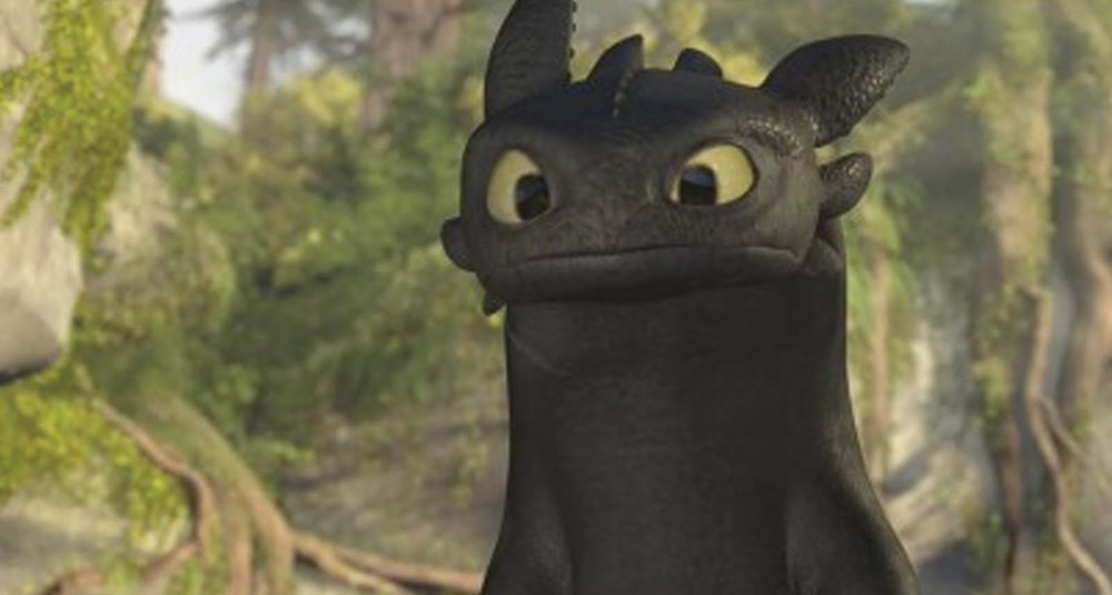 How To Train Your Dragon 's movie version of Toothless is completely different from the book's version--but just as endearing.