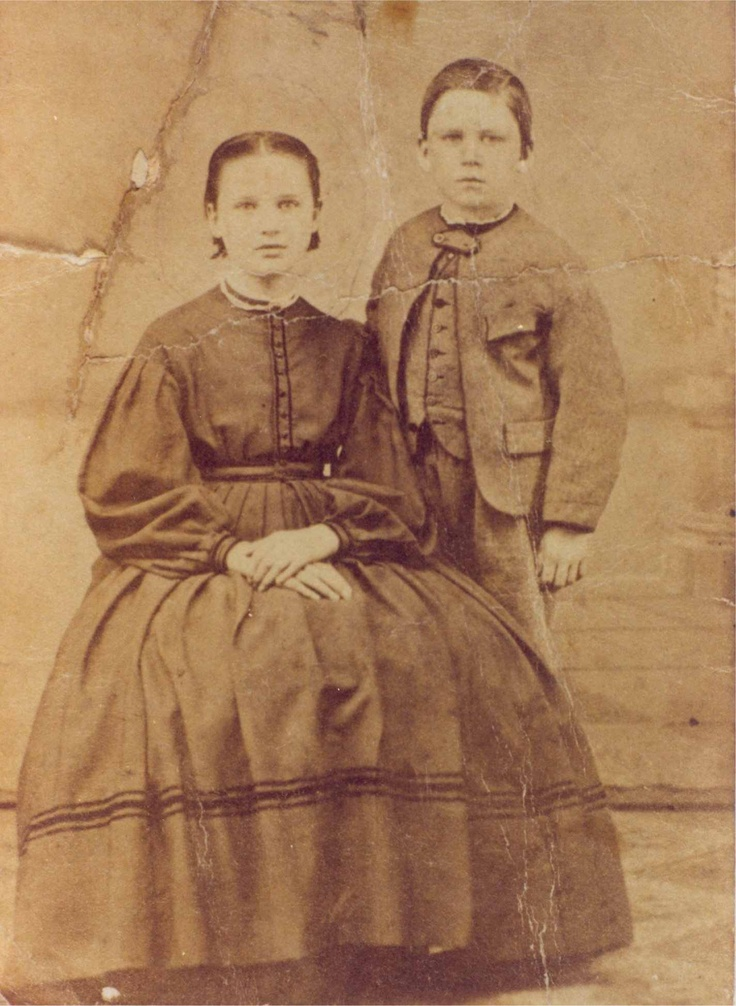 Here are Almanzo and another of his sisters, Alice. The docents at the Wilder Homestead told us that this picture was taken at about the time that the book was set.