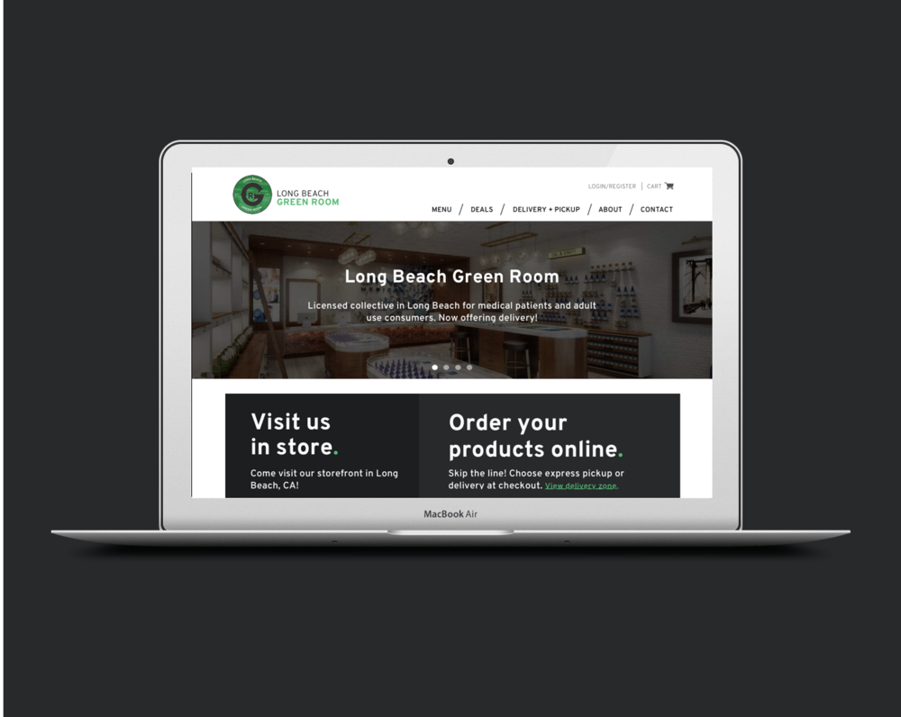 Delivery solution for a local dispensary. - A study on and redesign of Long Beach Green Room dispensary's online ordering system.