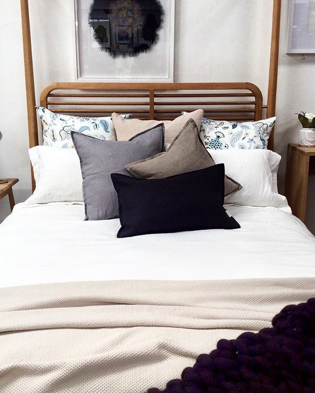 Beautiful quality BELGIAN Linen Cushions NEW in stock in 3 sizes and 3 different colours.  @adelaide_agencies @flaxfieldlinen