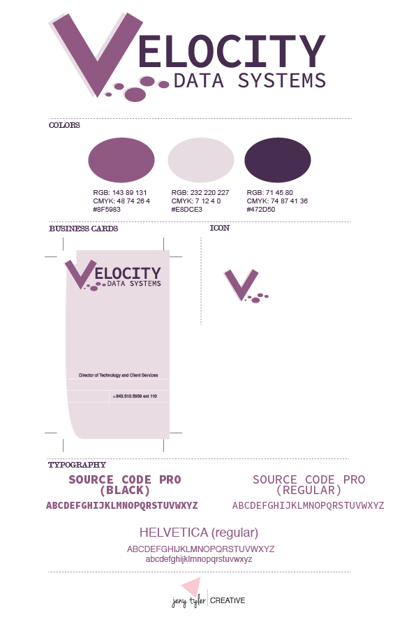 VELOCITY DATA SYSTEMS | Style Guide