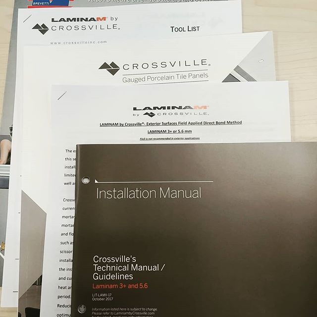 Time for continuing education @crossvilleinc! Is your installer staying up to date or is he stuck in the '80s?  #crossvilletile #laminam #porcelain #porcelaintile #thintile #gaugedporcelain #bathroom #remodel