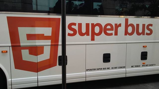 Saw this #bus yesterday and did a triple-take and was confused. That's the #html5 #logo. And not as a sponsor. It's the bus company's logo. I had to #google this of course and there were plenty search results from others being astonished. Unbelievable! ➖➖➖➖➖➖➖➖➖➖➖ #html #developer #programmer #webdevelopment #webdeveloper #webdesign #css #softwaredevelopment #ui #ux #graphicdesign #design #designer #artist #logodesign #logodesigner #coporateidentity #trademark #brand #branding #creative #creativeagency #nyc #brooklyn