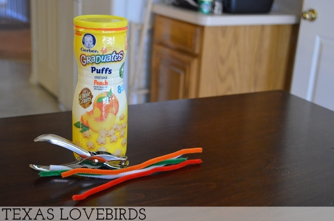 Toddler Activity DIY Straw Pull Tools