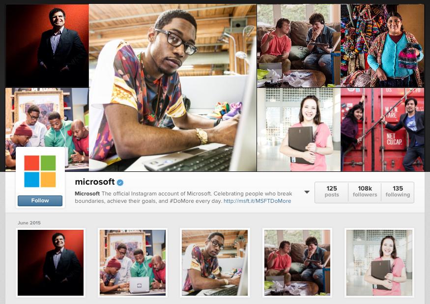 Microsoft Instagram Feed - June 2015