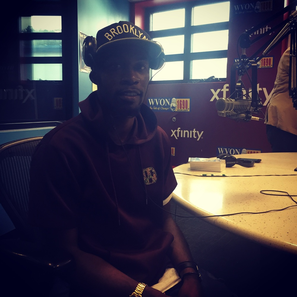 Johnnie Fresh in the WVON Chicago studios