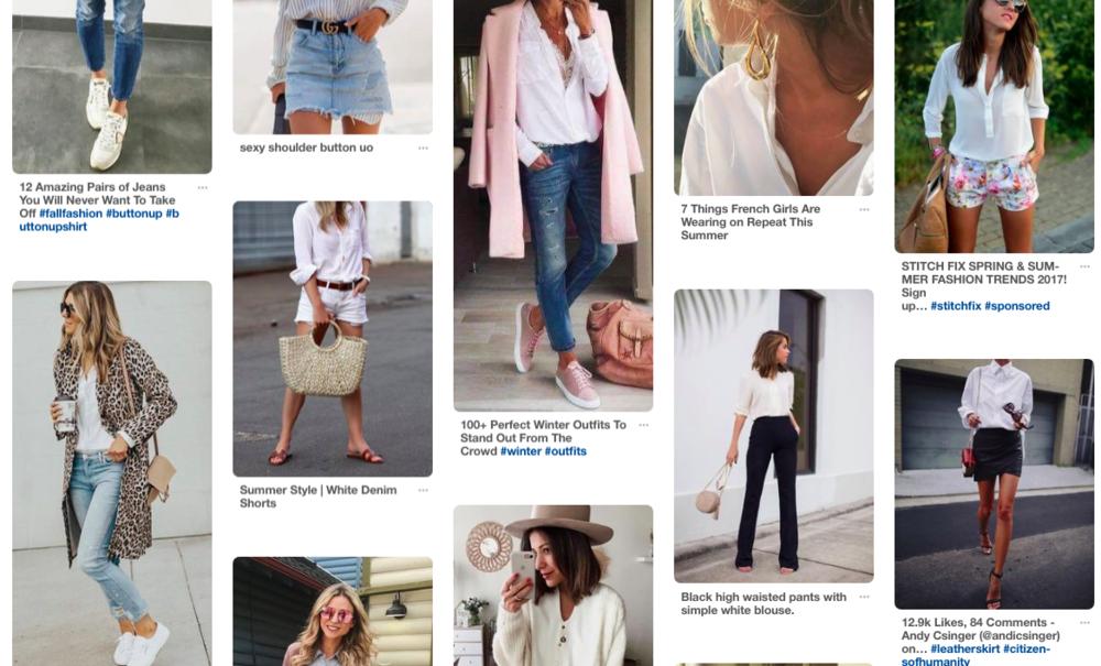 Pinterest Women's White Button Up Street Styles