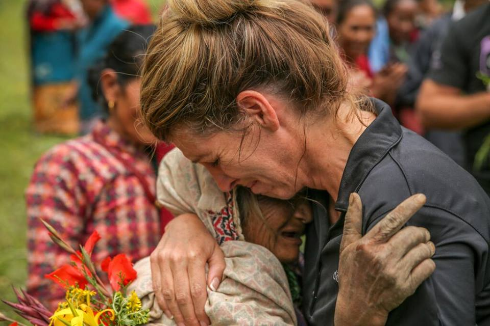 Emily Wright in Nepal - one of doTERRA's Founding Executives