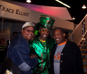 Hanging out with Bootsy Collins