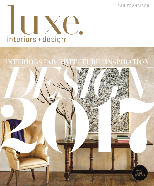 """A look back at the past year in design with the prolific talents responsible for the inspiring and aspirational homes featured in the pages of our magazine -- From architects and interior designers to home builders and landscape architects all across the country that are leading the industry in fresh and exciting ways."" -- Luxe Magazine"