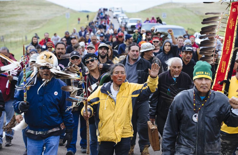 Dakota Pipeline protest march--Wallstreet Journal