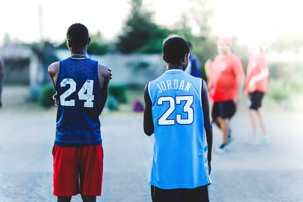 Eddy & Maina ||Lessons in insta-cool: Basketball jerseys