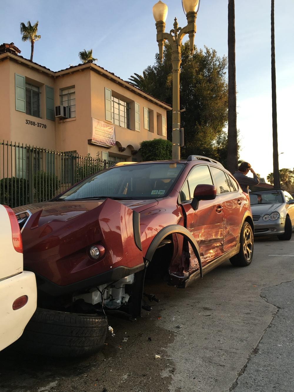 Totaled Subaru Crosstrek