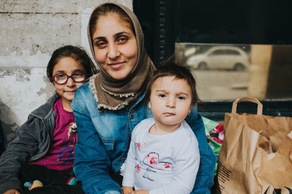 Refugee Family in Paris