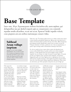 This template can be used for copy-heavy flyers and reports.