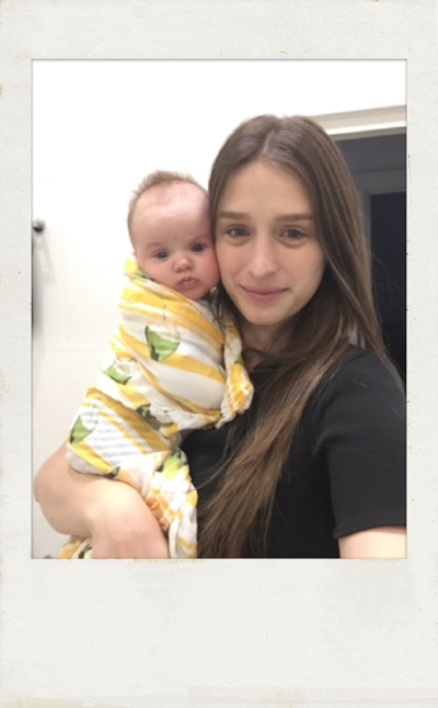 Kristine with her youngest Florence