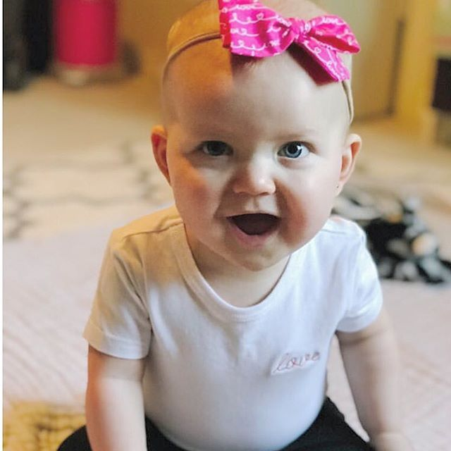 Hope everyone is feeling the love today. This cutie pie is wearing our love onesie ❤️ RG @jnannvick