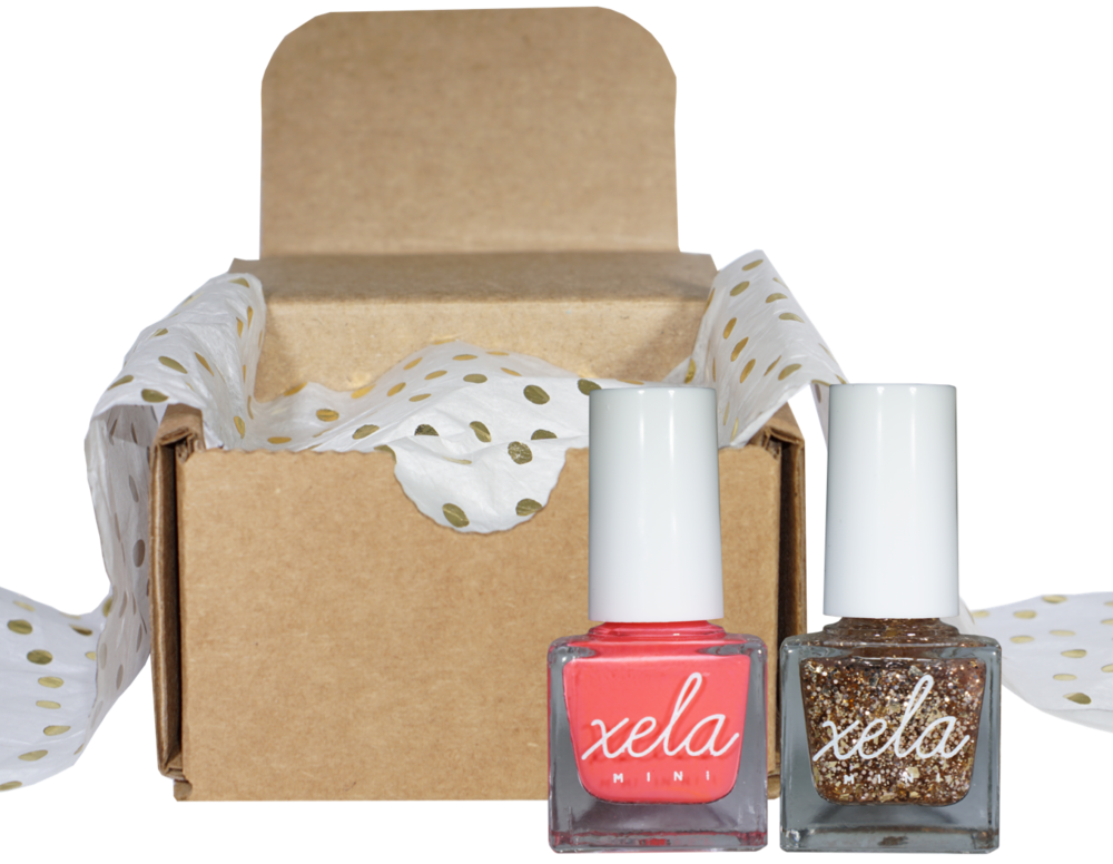 SUBSCRIption Box  →   Stay colorful by subscribing to receive a box of two premium mini nail polish colors. Choose to receive a box once a month, once every other month or once every three months. You can skip a box or cancel at any time.  Learn more .
