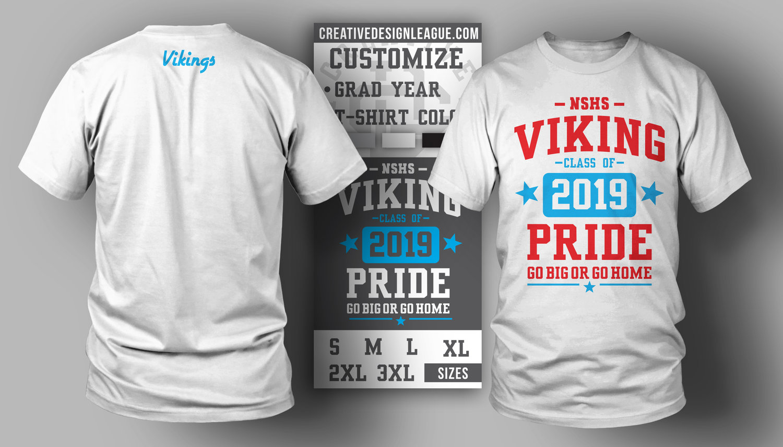d21293b00 Viking Pride Custom Year T-Shirt — Creative Design League