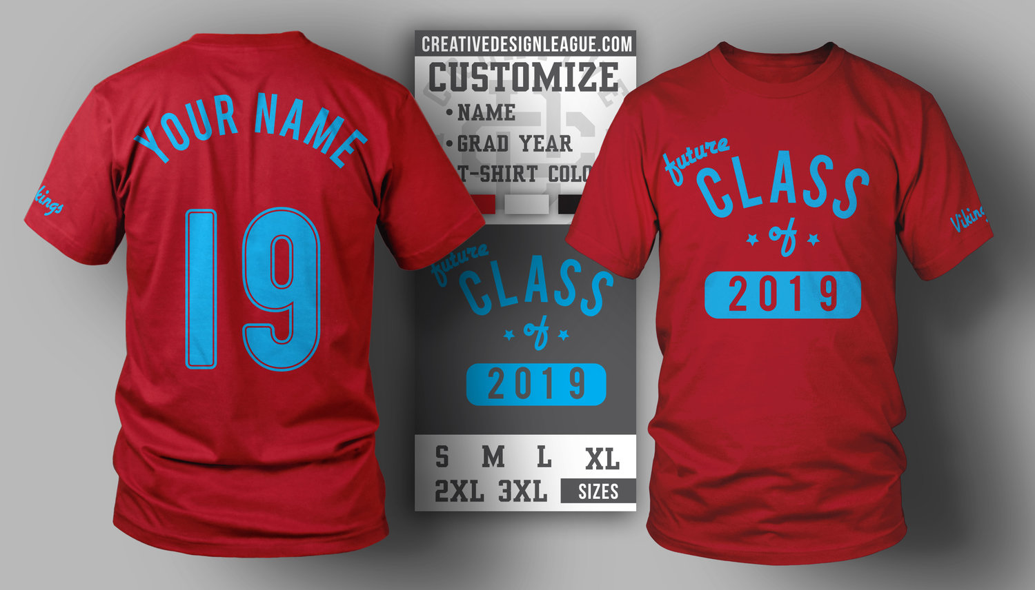 Double Sided Class Of T Shirt Creative Design League