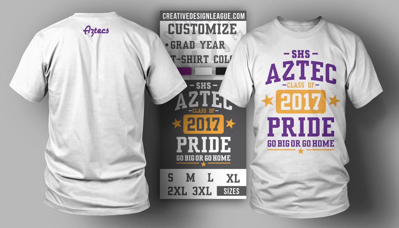 Aztec Pride Custom T Shirt Creative Design League