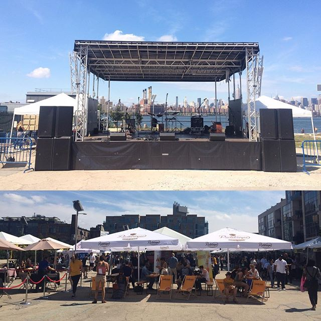 The stage is set and the doors are open. Come check us out at Taste of Williamsburg! #bigdogrun #livemusic #goodeats